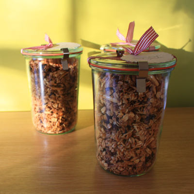 holiday gift given : granola