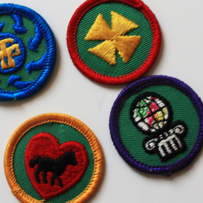 horse lover's is the only badge i can identify