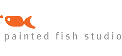 new painted fish studio logo!