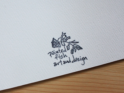 painted fish art & design stamp from 1995
