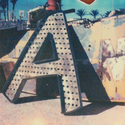 neon museum boneyard. film: px 680 color shade gold edition
