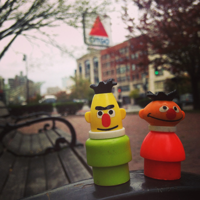 bert & ernie go on the road, boston edition.