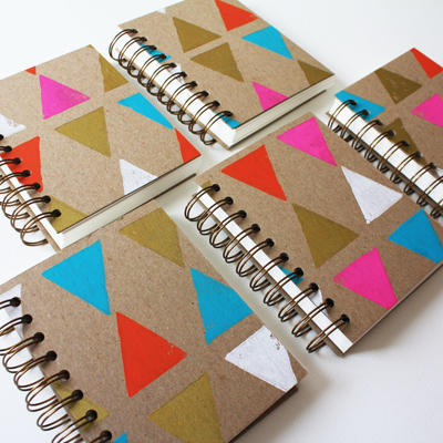 small triangle notebooks!