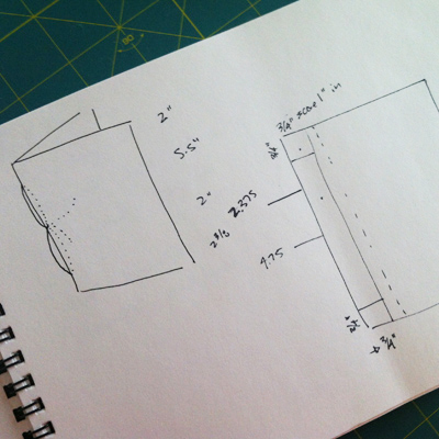 instructions and dimensions for the pamplet stitched folder and japanese stab-binding