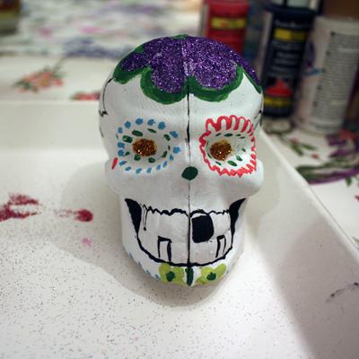 valerie's skull!