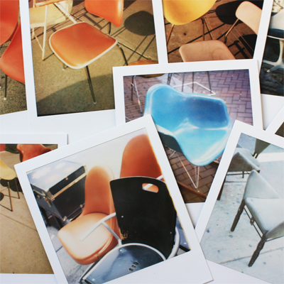 some of the chair polaroids in my new book!