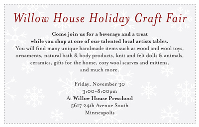 willow house holiday craft fair!
