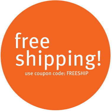 free shipping! use coupon code: FREESHIP