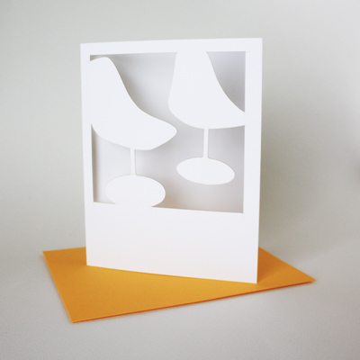 polaroid card : tulip chairs