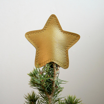 etsy : anne b vinyl : mini metallic vinyl star tree topper
