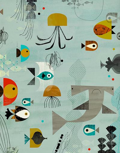 etsy : dante terzigni : aquatic2 - 11 x 14