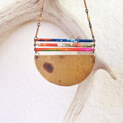 etsy : found co. : bamboo bars necklace