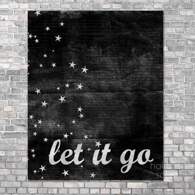 etsy : hairbrained schemes : let it go art print
