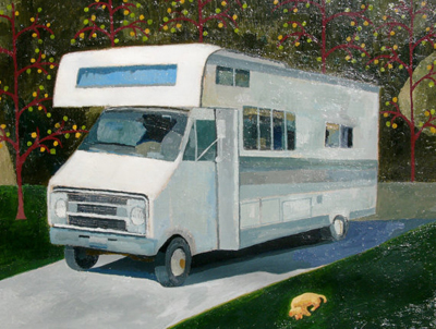 etsy : john kline artwork : portrait of a recreational vehicle