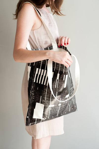 etsy : lee coren : black &amp; strong canvas tote bag, hand screen printed
