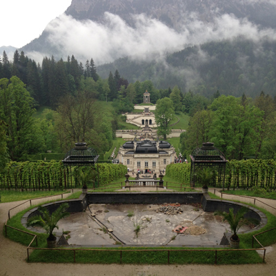 the next day was a hangover day, so we took it easy and drove to linderhof palace, and i learned about king ludwig #2 (he was very misunderstood!)