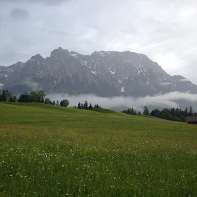 that night we hiked in the buckelwiesen. the fog/low clouds were amazing. we heard a cuckoo that night.