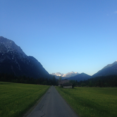 early morning run on the buckelwiesen before a long hike. i heard a cuckoo bird that morning!