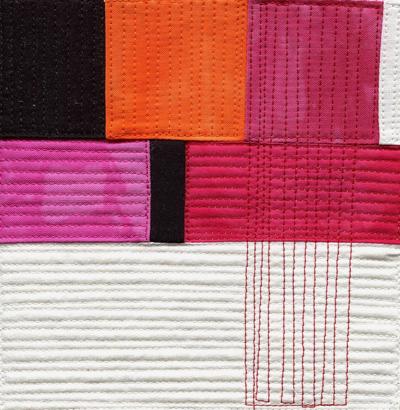 etsy : modern quilt : small art quilt