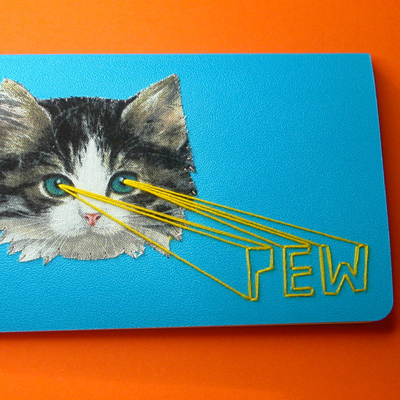 etsy : nowvember : kitten lasers pocket notebook with sound effects