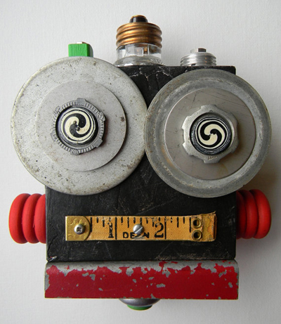 etsy : red hardwick : recycled art collage - hypno bot