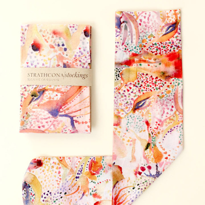 etsy : strathcona stockings : watercolour painting stockings