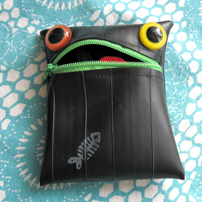 etsy : trigo : scrappy the recycled tire monster coin purse
