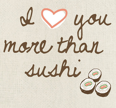 etsy : uupp : i love you more than sushi