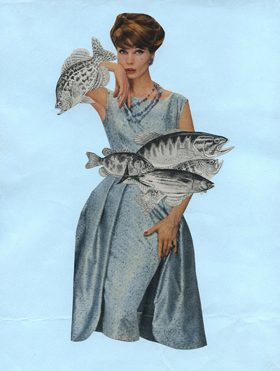 etsy : vivienne strauss : freshwater bouquet. original collage by vivienne strauss.